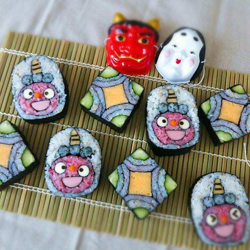 飾り巻き寿司ワークショップ 節分VER