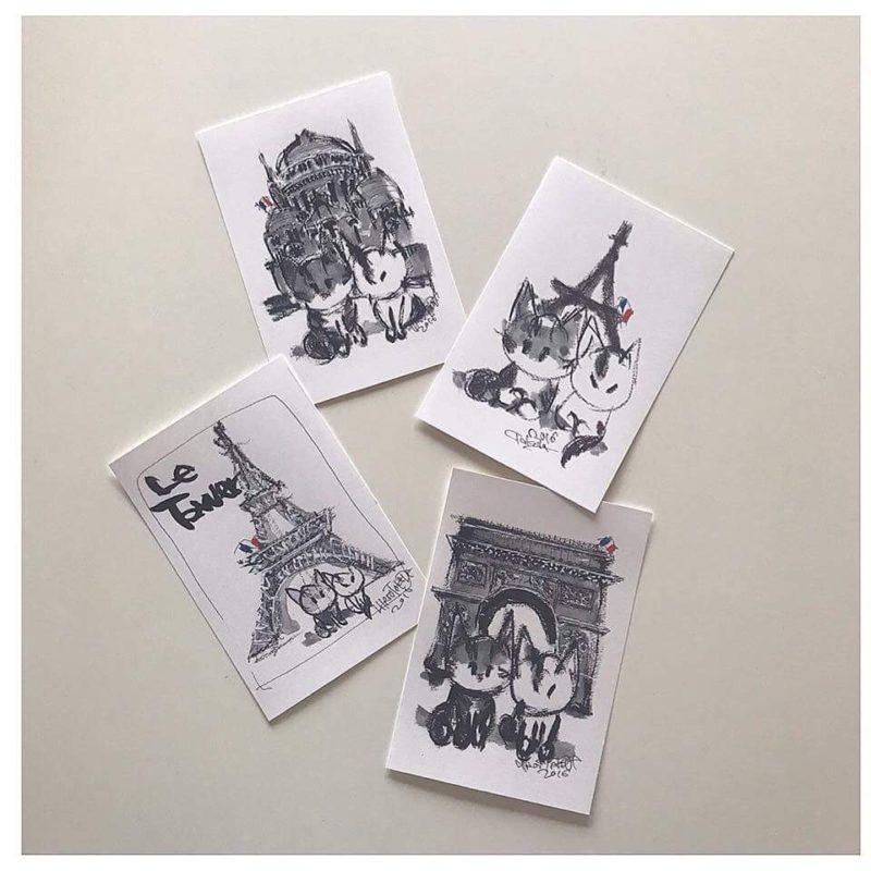 『武田寛夫 猫の絵展 』(2/18日曜日〜2/22木曜日)