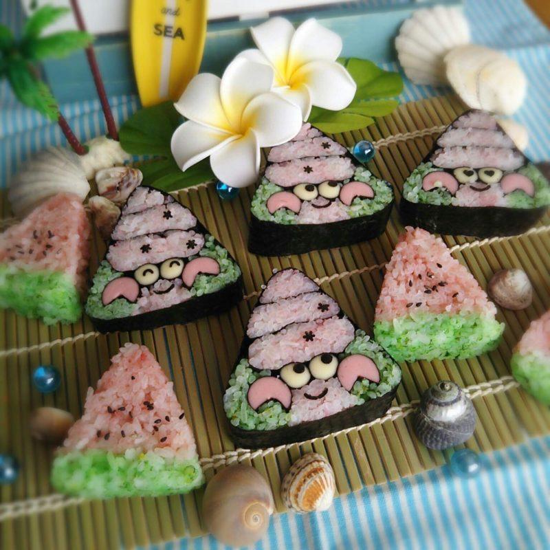 8月19日日曜日  14時~夏休みの飾り巻き寿司ワークショップ!ヤドカリちゃんとスイカ🍉